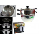 wholesale Pots & Pans: Steaming pots steel set of 2 items