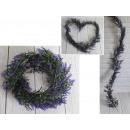 Ghirlanda, edera viola, lunga 160 cm 9.5 cm