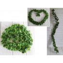 Ghirlanda, edera, verde, diametro 160 cm 8 cm