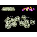 Girlanda, baubles glowing on batteries 6 cm 10 ...