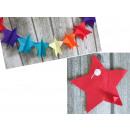 nagyker Parti kellékek: Dekoratív garland papír csillag 3m