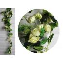 Ghirlanda di fiori, rose di edera 1,6 m - crema