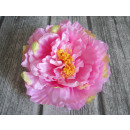 wholesale Artificial Flowers: Flower head product peony 25 cm pink with zi