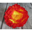 wholesale Artificial Flowers: Flower head product peony large 20 cm - yellow