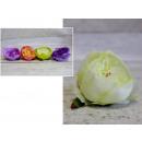 Virágfej, bazsarózsa 8.5x5 cm - 1 db
