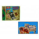 wholesale Parlor Games: A game of wooden  cards for lacing animals gospo