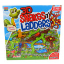 wholesale Mind Games: Spatial game 3d snakes ladders 30x30x7 cm