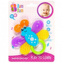 wholesale Baby Toys: Rattle, butterfly teether bam bam on a blister 20x