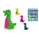 Gomma da cancellare Dino, colore dinosauro mix 5 c