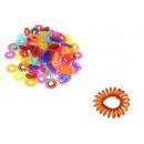 wholesale Drugstore & Beauty: Elastic hair band 3 cm mix color transparent