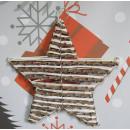 Stella decorativa tessuta da pali e corda con