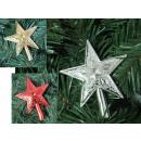 Stella dell'albero di Natale 10 cm - 1 pezzo