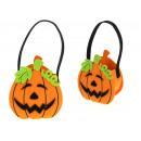 wholesale Organisers & Storage: Halloween basket, felt basket pumpkin 15x13x6,