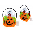 wholesale Organisers & Storage: Halloween basket, pumpkin felt basket 21x16x7,