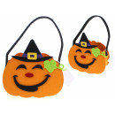 wholesale Organisers & Storage: Halloween basket, basket of felt pumpkin in a cap