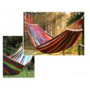 wholesale Garden & DIY store: Single hammock pink 250x80 cm + bar 40 cm