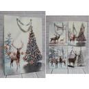 E confezione regalo natalizia, foresta 55x39x13
