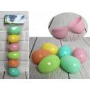 Uova di plastica aperte 9 cm - un set di 6 pezzi