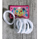 K. hair elastics white 6 piece set (blister