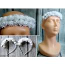 K. headband communion white small flowers 15