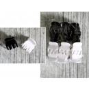 mayorista Ropa: K. clips, clips, ranas grandes 2.3 cm blanco, enca