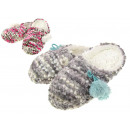 wholesale Shoes: Ladies' downy slippers pom poms 36-40