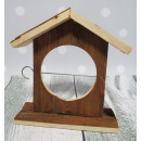 Bird feeder, wooden box for birds for bacon