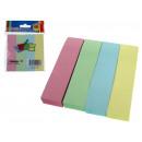 Note adesive, con strisce adesive a 4 colori paste