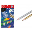 Kide crayons jumbo triangulaires 12 couleurs
