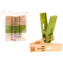 wholesale Laundry: Clothes pegs plastic (white, beige, green