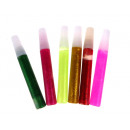 wholesale Small Parts & Accessories: Glue with glitter 10 cm set 6 piece