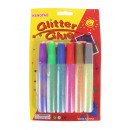 wholesale Small Parts & Accessories: Glitter glitter 6 pieces clear blister colors