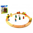 Wooden train 20 pcs wood toys 40x36x4 cm