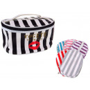 wholesale Travel Accessories: Cosmetic bag with stripes 21x15x12,5 cm