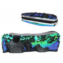 wholesale Travel Accessories: Beautician, pencil case turned over sequins 22x4x7