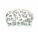 wholesale Travel Accessories: Beautician white with black cats 20x12x11 cm