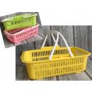 Basket, plastic basket with handles 44x30x13 cm