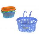 Műanyag kosár fogantyúval 27x18.5x19 cm színű