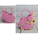 wholesale Handbags: Basket, felt easter lamb bag 25x18