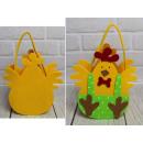 wholesale Handbags: Basket, felt easter chicken bag 25x18 cm