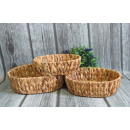 wholesale Organisers & Storage: Basket woven from grass oval set 3 piece