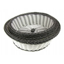 Rattan baskets white and gray set 3 pieces (20