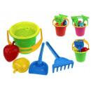 Ensemble de sable pour enfants, seau ondulé - 6