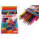 Pastelli a matita 17,5 cm 12 colori jumbo