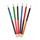 Pastelli a matita set 6 pezzi 12 colori dwustr