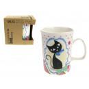 grossiste Maison et cuisine: chats tasse en  céramique dans un carton écologique