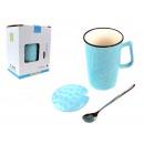 Tazza in ceramica con coperchio e cucchiaio martel