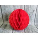Papír gömb, papírpapír rozetta 30 cm - piros