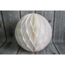 Papír gömb, papírpapír rozetta 30 cm - fehér