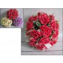 grossiste Maison et habitat: Sphère avec des fleurs roses 30 cm
